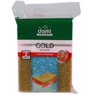 Губки кухонные, Золото, 2 шт, ТМ Domi