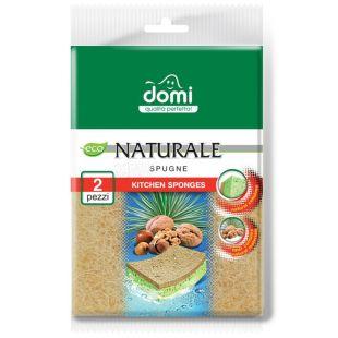 Губки кухонні, натуральна фібра, 2 шт, ТМ Domi