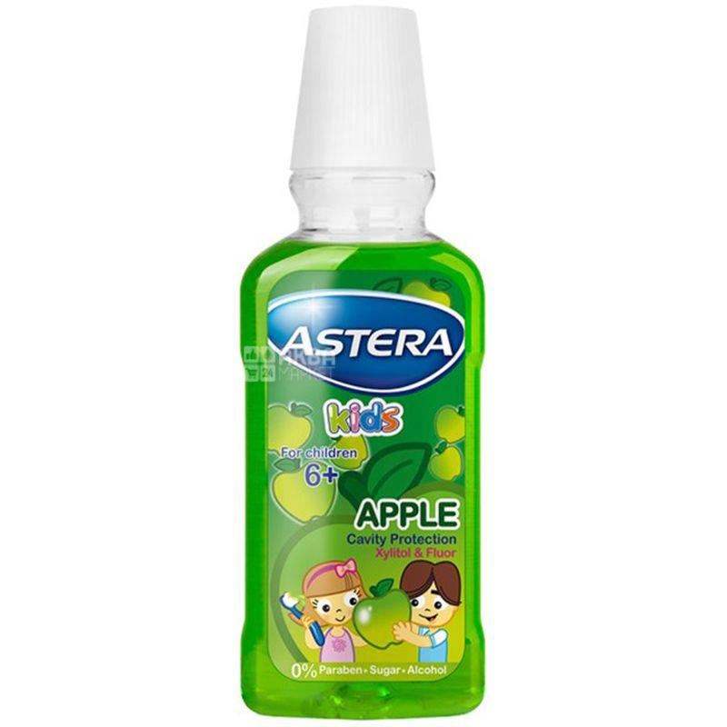 Astera Kids Green Apple, 300 мл, Дитячий ополіскувач для порожнини рота, Яблуко