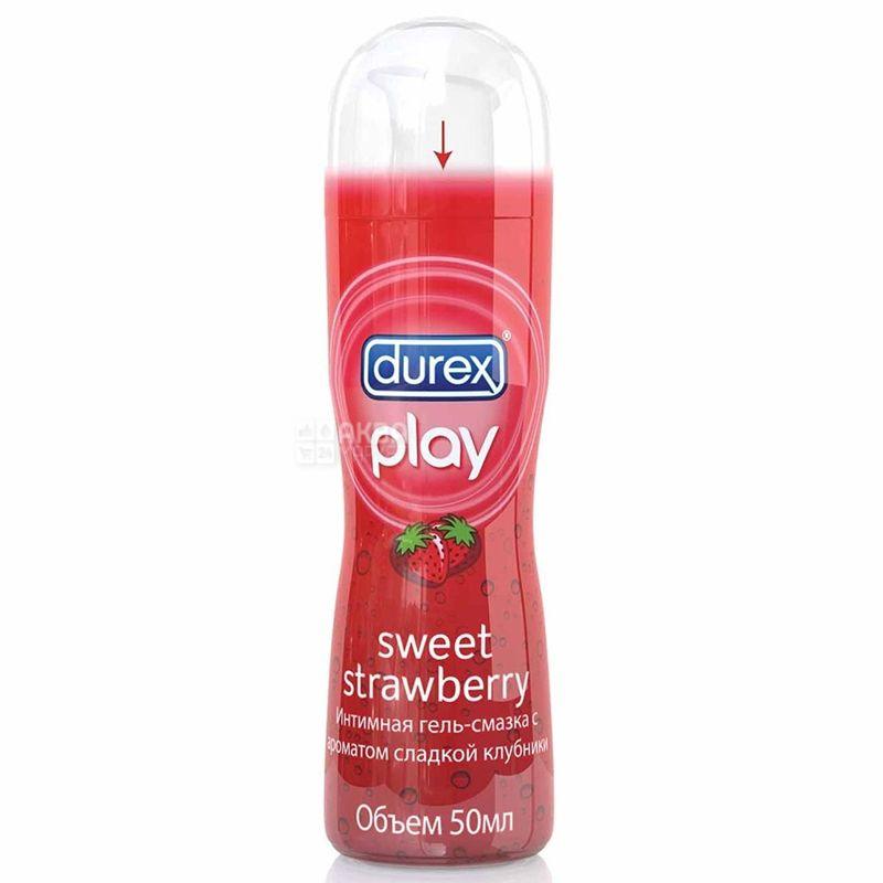 Durex, Play Sweet Strawberry, 50 мл, Інтимний гель-змазка, з полуницею