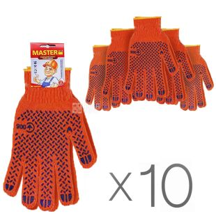 Gloves professional orange, 10 pcs, TM MasterOk