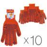 Рукавиці професійні помаранчеві, 10 шт, ТМ MasterOk