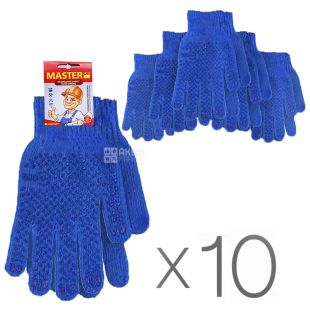 Blue professional gloves, 10 pcs, TM MasterOk