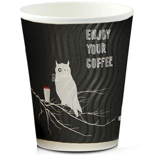 Gofrostakan paper Owl of 250 ml, 25 pieces, D75