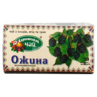 Карпатський чай, Ожина, 20 пак., Чай з плодів ягід і трав