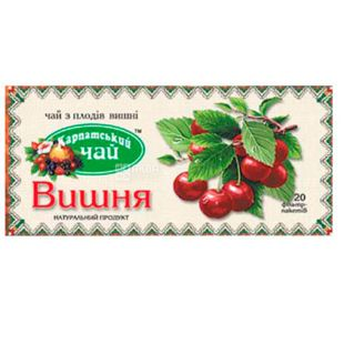 Карпатский чай, Вишня, 20 пак., Чай с плодов вишни