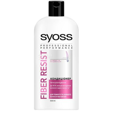 Syoss Anti-Hair Fall Fiber Resist, Бальзам против выпадения тонких и ломких волос, 500 мл