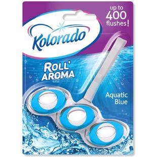 Блок туалетний для унітазу Roll Aroma Blue Aquatic, 51 г, ТМ Kolorado
