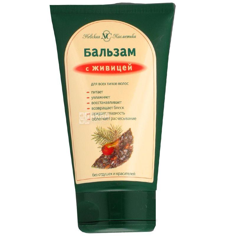 Невская Косметика, Бальзам для всех типов волос с живицей, 150 мл