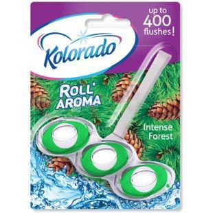 Блок туалетний для унітазу Roll Aroma Intense Forest, 51 г, ТМ Kolorado
