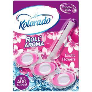 Блок туалетний для унітазу Roll Aroma Exotic Flowers, 51 г, ТМ Kolorado