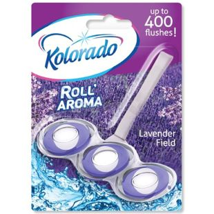 Блок туалетний для унітазу Roll Aroma Lavender Field, 51 г, ТМ Kolorado