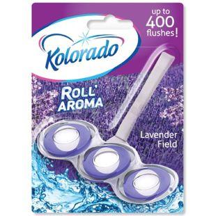 Блок туалетный для унитаза Roll Aroma Lavender Field, 51 г, ТМ Kolorado