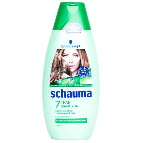 Schauma 7 трав, Шампунь для нормальных и жирных волос, 400 мл