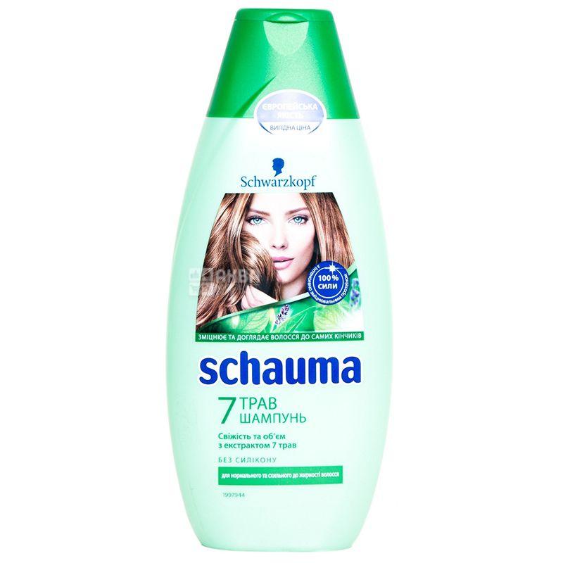 Schauma 7 трав, Шампунь для нормального і жирного волосся, 400 мл
