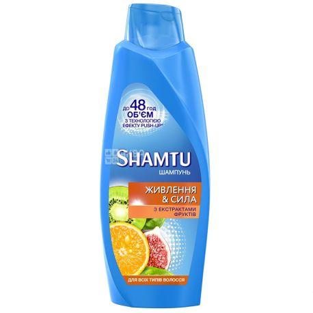 Shamtu Питание и сила, Шампунь для всех типов волос, 600 мл