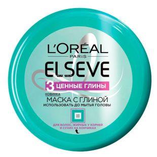 L'Oreal Elseve, Маска для волос, 3 ценные глины, 150 мл