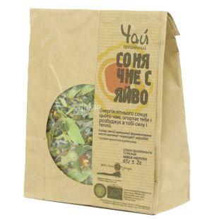 Живая земля Потуторы, Сонячне сяйво, 65 г, Чай травяной с цветом липы и шиповником, органический