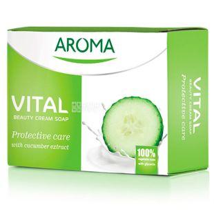 Aroma Vital Protective, Крем-мило з екстрактом огірка, 100 г