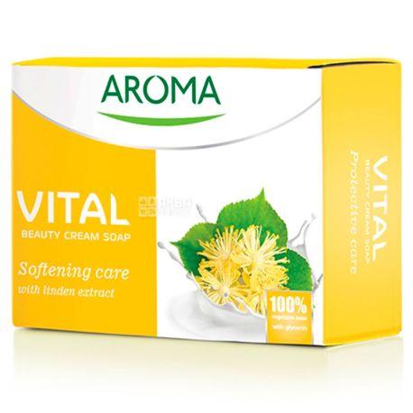 Aroma Vital Softening, Крем-мыло с экстрактом липы, 100 г