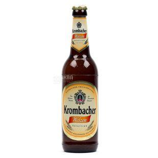 Krombacher Weizen, Пиво світле нефільтроване, б/а, 0,5 л