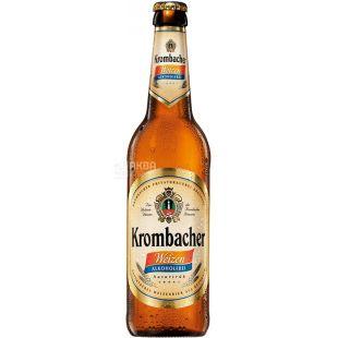 Krombacher Weizen, Пиво светлое нефильтрованное, б/а, 0,5 л