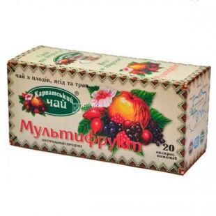 Карпатский чай, Мультифрукт, 20 пак., Чай с плодов ягод и трав