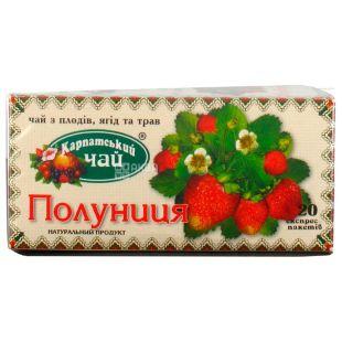 Карпатский чай, Клубника, 20 пак., Чай с плодов ягод и трав