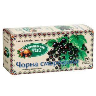 Carpathian tea, Black currant, 20 pack., Tea from berries and herbs
