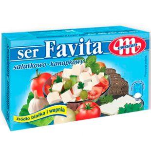 Сир фета Favita, 17%, 270 г, ТМ Mlekovita
