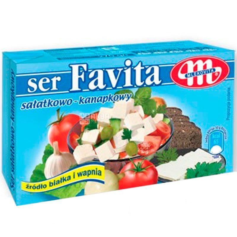 Сыр фета Favita, 17%, 270 г, ТМ Mlekovita