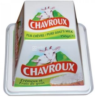 Goat cheese, pyramid, 49%, 150 g, TM Chavroux