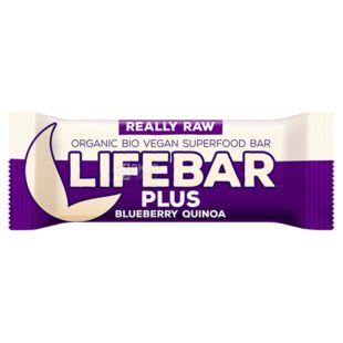 Батончик протеиновый органический Lifebar Plus Черника-киноа, 47 г, ТМ Lifefood
