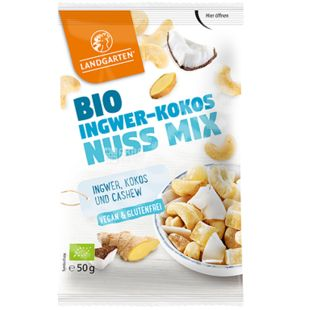 Mix of cashew, coconut, ginger organic Bio Ingwer-Kokos-Nuss Mix, 50 g, TM Landgarten
