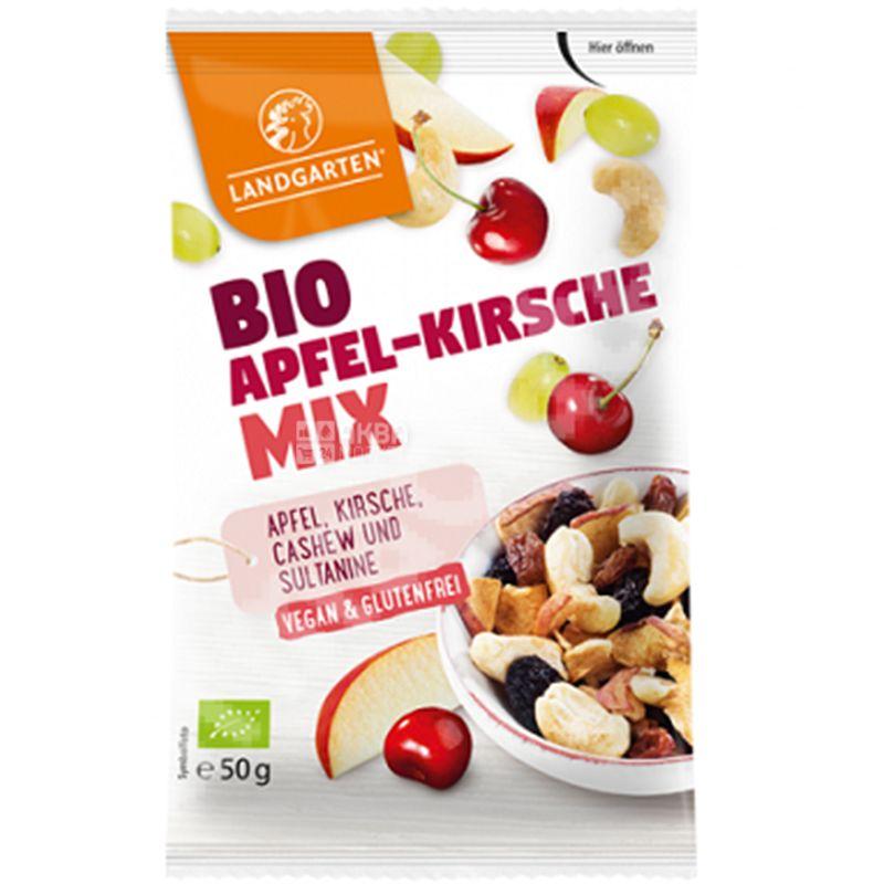 Organic Apfel-Kirsche Mix Organic Mix Cashews, Cherries, Apples, 50 g, TM Landgarten