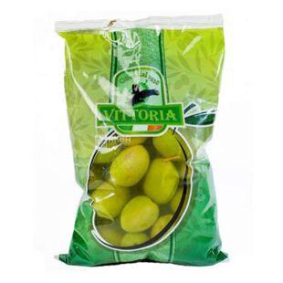 Оливки зеленые гигантские с косточкой, 500 г, ТМ Vittoria