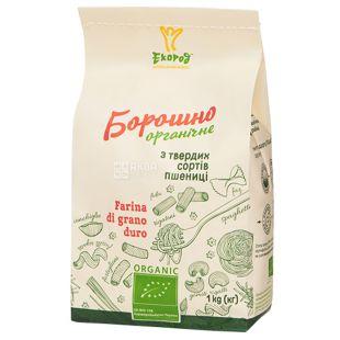 Organic flour from durum wheat, 1 kg, TM Ecorod