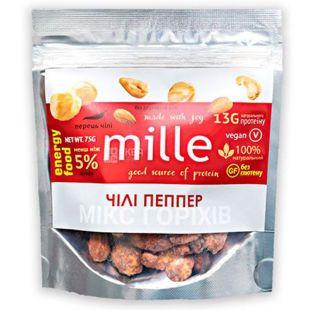 Мікс горіхів Чилі Пеппер, 75 г, ТМ Mille