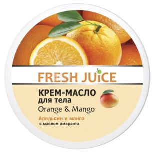 Fresh Juice, Крем-масло для тіла, апельсин, манго з маслом амаранту, 225 мл