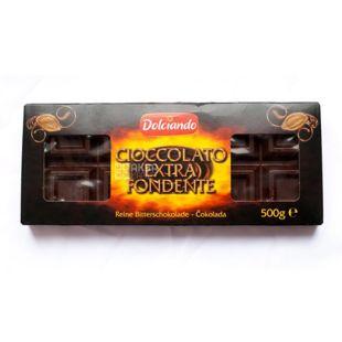 Black chocolate Cioccolato Extra Fondente, 500 g, TM Dolciando