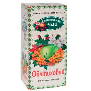 Carpathian tea, Sea buckthorn, 20 packs, Tea from berries and herbs