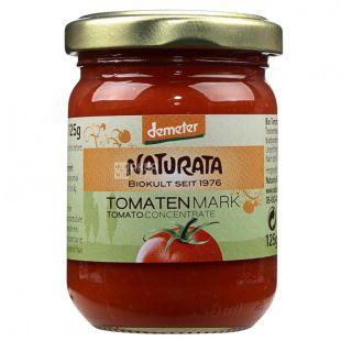 Organic tomato paste, 125 g, TM Naturata