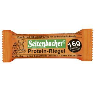 Protein-Riegel Orange protein baton with orange, 60 g, TM Seitenbacher