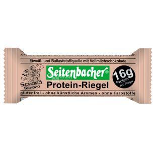 Батончик протеиновый Protein-Riegel Schoko с шоколадом, 60 г, ТМ Seitenbacher