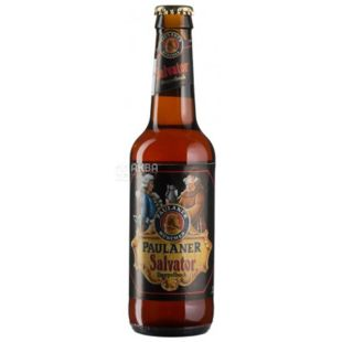 Beer dark unfiltered Salvator, 0.33 L, TM Paulaner