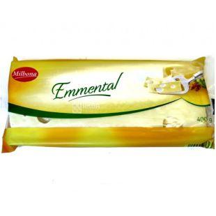 Milbona Emmental, Сыр твердый, 400 г