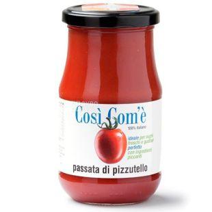 Passat (tomato puree) from Pitsutello tomatoes, 350 g, TM Cosi Com'e