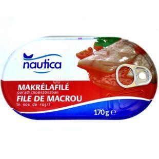 Nautica Филе скумбрии в томатном соусе, 170 г