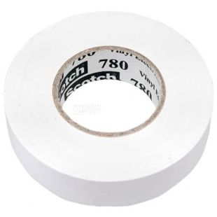 Electrical tape Scotch, white, 19 mm x 20 mx 0.18 mm, TM ZM