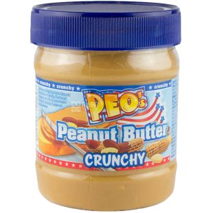 PEO's Peanut Butter Crunchy, Арахісова паста, 340 г